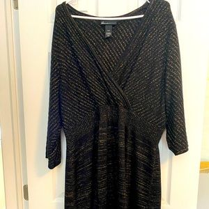 Lane Bryant stretchy wool glittery dress 18/20